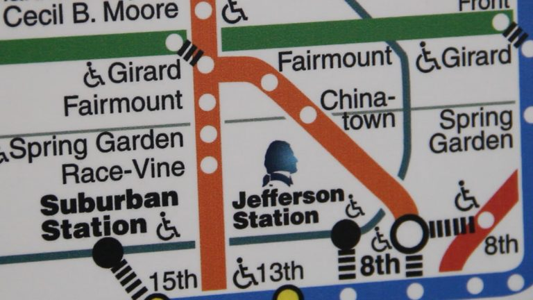 The latest SEPTA subway map shows the newly renamed Jefferson Station. (Image courtesy of SEPTA)
