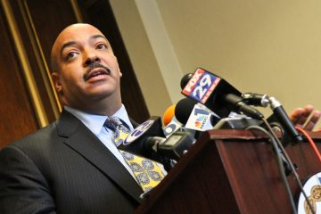 Philadelphia District Attorney Seth Williams is shown speaking to the press in November 2013. (Kimberly Paynter/WHYY, file)
