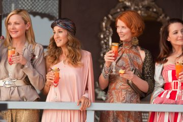 From left: Actresses Kim Cattral as Samantha Jones, Sarah Jessica Parker as Carrie Bradshaw, Cynthia Nixon as Miranda Hobbes and Kristin Davis as Charlotte York are shown in this undated photo in New Line Cinema's 'Sex and the City 2,' a Warner Bros. Pictures release. (AP Photo/Warner Bros.)
