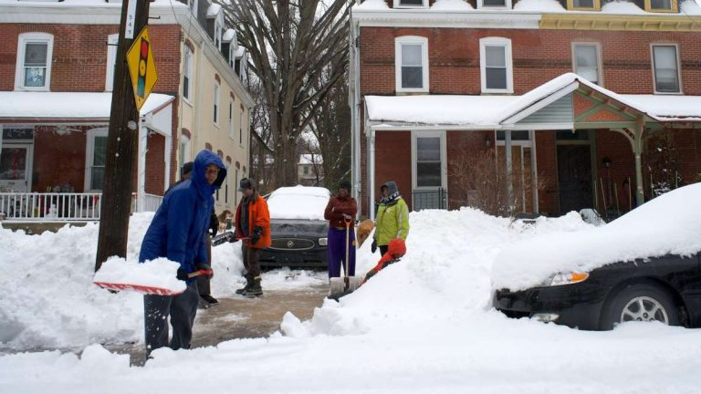 Forecasts to the contrary, this was not the scene in Philadelphia last week. These neighbors helped each other dig out in February 2014.