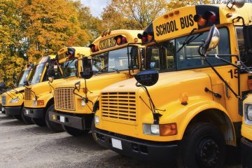 Current New Jersey law requires school buses to have lap-only belts. It's one of six states to require seatbelts at all on school buses. (Shutterstock)