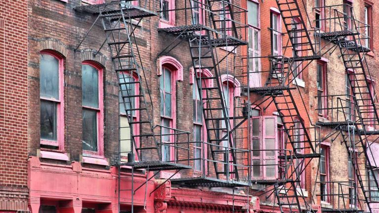 City Councilman Curtis Jones is seeking better monitoring of fire escapes such as these in Philadelphia.(<a href=