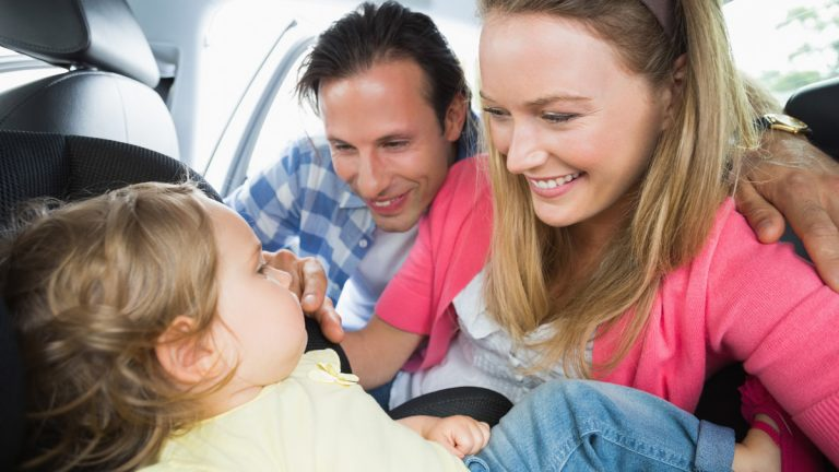 Under New Jersey's new law, children must be placed in a  backwad-facing car seat until they're 2 years old or weigh more than 30 pounds.(<a href=