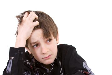 (<a href='http://www.shutterstock.com/pic-24702862/stock-photo-child-with-study-of-the-difficulties-on-white-background.html'>Child under stress</a> image courtesy  of Shutterstock.com)