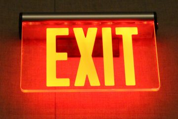 (<a href='http://www.shutterstock.com/pic-158661020/stock-photo-exit-sign.html'>Exit sign</a> image courtesy of Shutterstock.com)