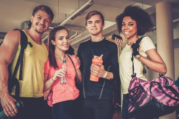 (<a href='http://www.shutterstock.com/pic-321184157/stock-photo-multiracial-group-after-aerobics-class.html'>Gym buddies</a> image courtesy of Shutterstock.com)