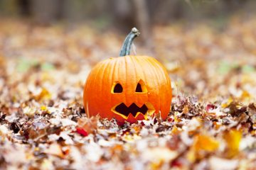 (<a href='http://www.shutterstock.com/pic-112331054/stock-photo-pumpkin-in-autumn-leaves.html'>Jack o'lantern</a> image courtesy of Shutterstock,com.)