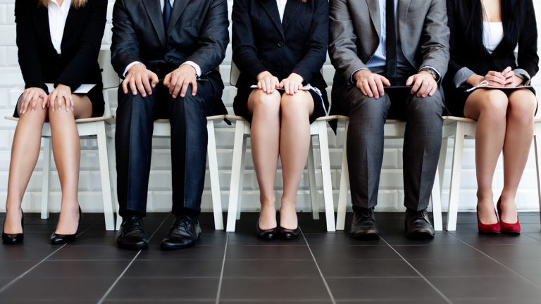 (<a href='http://www.shutterstock.com/pic-132759020/stock-photo-stressful-people-waiting-for-job-interview.html'>Waiting for a job interview</a> image courtesy of Shutterstock.com)