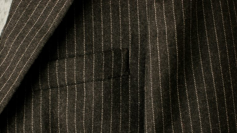 (<a href='http://www.shutterstock.com/pic-1953067/stock-photo-close-up-of-a-new-business-suit-focusing-on-the-chest-pocket.html'>Pinstripes</a> image courtesy of Shutterstock.com)