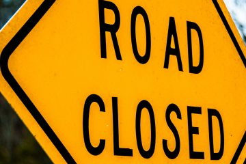 (<a href='http://www.shutterstock.com/pic-140425150/stock-photo-road-closed-sign.html'>'Road closed' sign</a> image courtesy of Shutterstock.com)