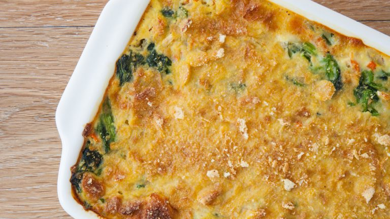(<a href='http://www.shutterstock.com/pic.mhtml?id=253927723&src=lb-35542004'>Spinach casserole</a> image courtesy of Shutterstock.com)