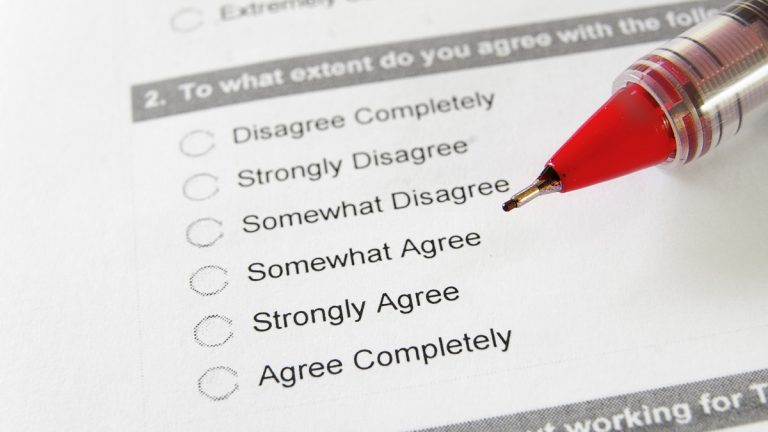 (<a href='http://www.shutterstock.com/pic-93948799/stock-photo-closeup-of-an-employment-survey-with-red-pen.html?src=csl_recent_image-1'>Survey</a> image courtesy of Shutterstock.com)