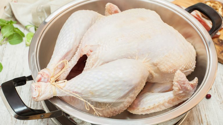 (<a href='http://www.shutterstock.com/pic-160467449/stock-photo-fresh-raw-turkey-in-a-roasting-pan-ready-for-the-oven.html'>Turkey</a> image courtesy of Shutterstock.com)