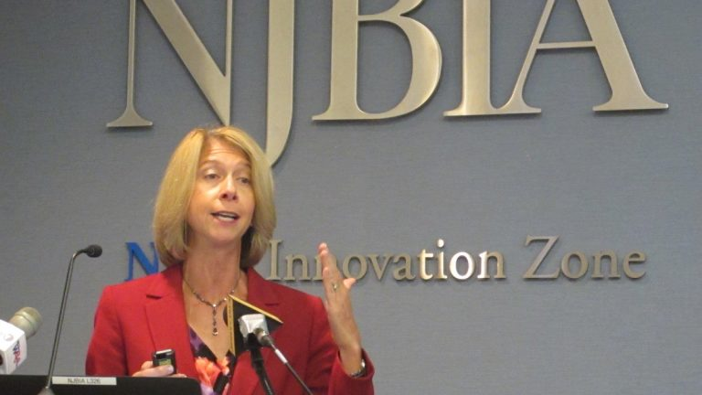 New Jersey Business and Industry Association president Michele Siekerka says  the cost of employee health benefits is the No. 1 challenge facing small-business owners. (Phil Gregory/WHYY)