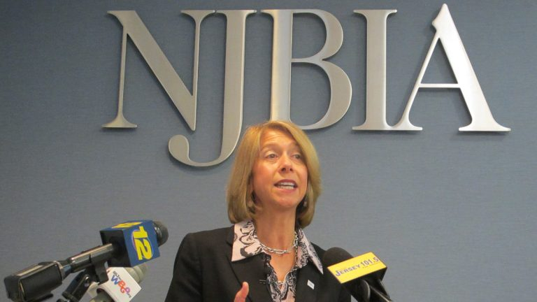 Michele Siekerka, president of the New Jersey Business and Industry Association, says 2 million people moved from the Garden State in the space of 10 years. (Phil Gregory/WHYY)