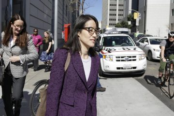 Shake-ups at Reddit, like the resignation of CEO Ellen Pao, pictured in this file photo from Feb. 24, 2015,are symptomatic of the growing pains of the web site that calls itself the front page of the Internet.  (AP Photo/Eric Risberg)