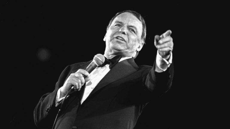 Frank Sinatra performs at the Veterans Memorial Coliseum in New York's Long Island April 9