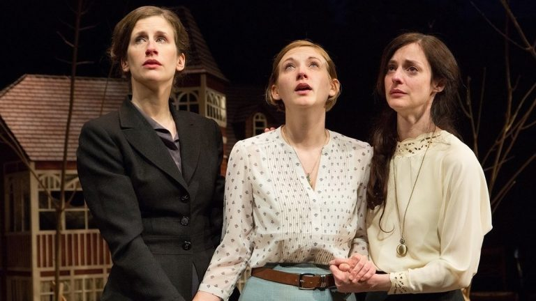 THREE CHEKHOV SISTERS: From left, Sarah Sanford (as Olga), Mary Tuomanen (as Irina) and Katharine Powell (as Masha) as the 'Three Sisters' in the Arden Theatre Company production of Anton Chekhov's play. (Photo courtesy of Mark Garvin)