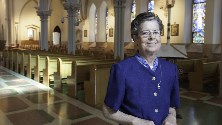 Sister Nora Nash and the Sisters of St. Francis in Philadelphia are pressuring Wells Fargo to make reforms. (Jonathan Wilson for NewsWorks