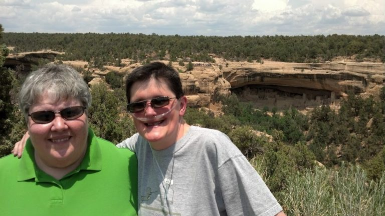 Sabrina Maurer and Kimberly Underwood pictured here at Mesa Verde National Park in Colorado in 2013. (Photo by Petra Heinsen, courtesy of Maurer)