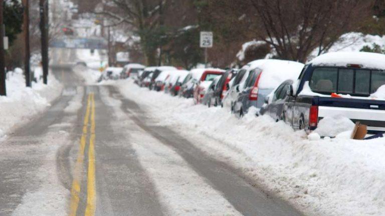 Slippery West Sedgwick Street in Northwest Philadelphia after a recent storm.  (Bas Slabbers/for NewsWorks)