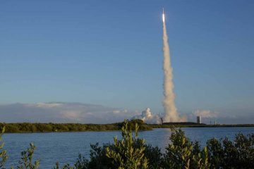 A rocket takes off from Cape Canaveral in Florida. (Joel Kowsky/NASA via AP)