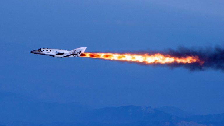 Virgin Galactic's SpaceShipTwo space tourism rocket. (Mark Greenberg/Virgin Galactic file photo via AP)