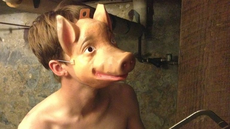 Check back for a preview of the Philadelphia Fringe Festival in Northwest Philly, including why this man is wearing a pig mask. (Courtesy of Sean Connolly)