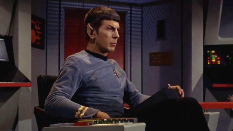Leonard Nimoy as Captain Spock in Star Trek, 1966.  (Photo by CBS)