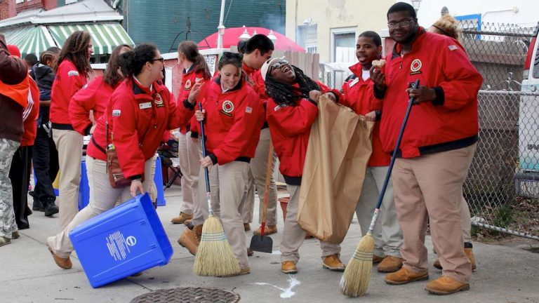 Rev. Chester Williams encouraged everyone to participate in the 8th Annual Philly Spring Cleanup on April 11 from 9 a.m. to 2 p.m. (Jana Shea/for NewsWorks,file)