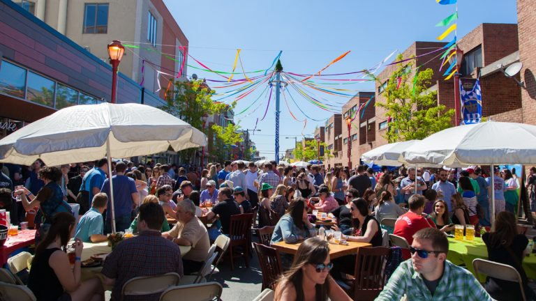 The South Street Spring Festival returns on Saturday, May 2 with an outdoor block party. Photo courtesy of South Street Headhouse District.