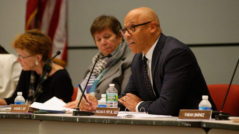 The School Reform Commission will vote Thursday whether to outsource two assistant superintendent positions to Foundations Inc. (NewsWorks file photo)