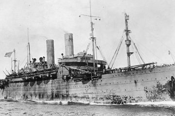 The SS George Washington is shown during its years in U.S. Navy service during World War I.