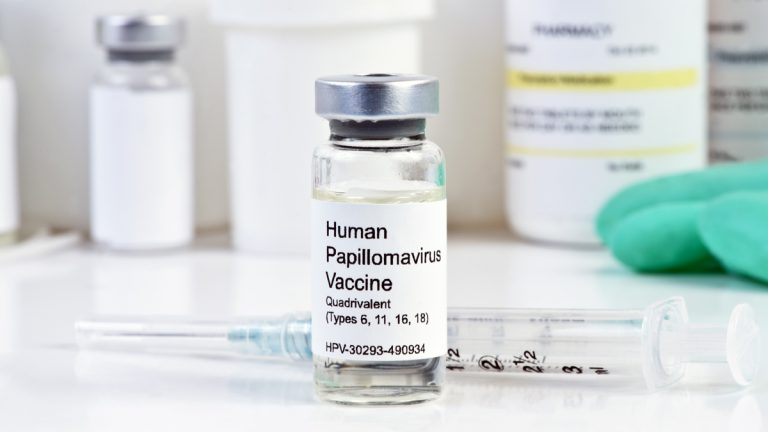 "(<a href=""http://www.shutterstock.com/pic-237242650/stock-photo-human-papilloma-virus-vaccine-with-syringe-in-vial-at-a-clinic.html?src=RjDGz4Xy8klyjLlj_Y2n-A-1-0"