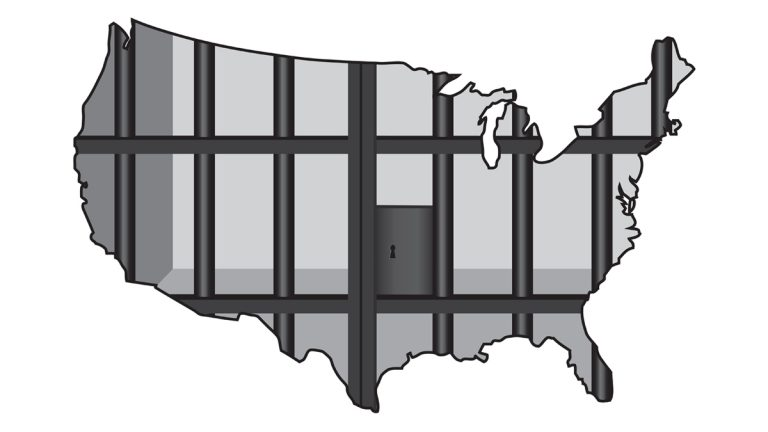 "(<a href=""http://www.shutterstock.com/pic-134778128/stock-vector-an-illustration-concerning-mass-incarceration-in-the-usa.html?src=OiMJhlnBY7em_B9X9K_u7g-1-3"