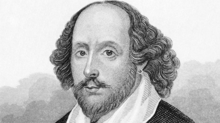 """(<a href=""""http://www.shutterstock.com/pic-86442250/stock-photo-william-shakespeare-engraved-by-anonymous-engraver-and-published-in-dugdale-s-england.html?src=97jShKVeePH6nQsK1iyM3A-1-6"""">Photo</a> via ShutterStock)"""