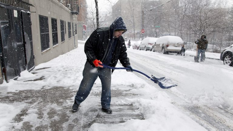 Legislation awaiting Gov. Chris Christie's approval would permit teens to ask New Jersey property owners if they need shoveling services before a snowstorm hits.(<a href=