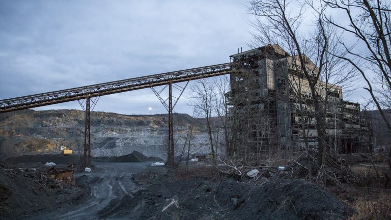 What remains of the St. Nicholas coal breaker near Mahanoy City