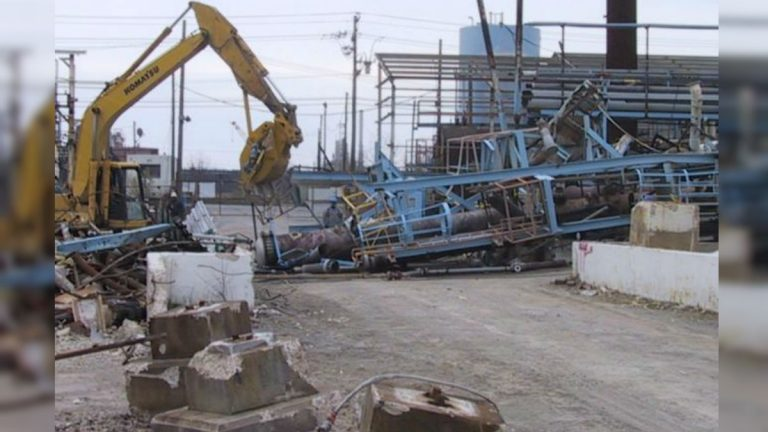 The old Standard Chlorine/Metachem plant was demolished in 2006. (photo courtesy EPA.gov)