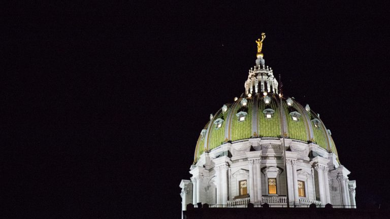 Would Pennsylvania's state government be less corrupt if the capital was relocated from Harrisburg to Philadelphia or Pittsburgh? Researchers Dr. Filipe Campante and Dr. Quoc-Anh Do found that state capitals that are isolated from main population centers are far more likely to be corrupt.  (Lindsay Lazarski/WHYY)