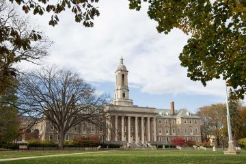 In 1929, the original building was razed and replaced by Old Main which stands as an administrative building and campus landmark today. (Lindsay Lazarski/WHYY)