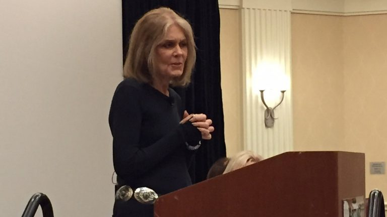 Gloria Steinem speaks during the Renfrew Foundation's 25th Anniversary Conference. (Photo/Jeanette Beebe)