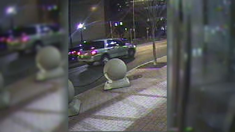 Police call the SUV seen in this surveillance photo a