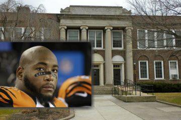 NFL player Devon Still(inset: AP Photo/Stephan Savoia)