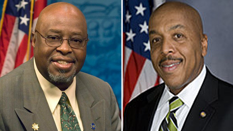 Former Pennsylvania state Reps. Ron Waters (left) and Harold James have pleaded guilty to corruption charges. (Images via Twitter)