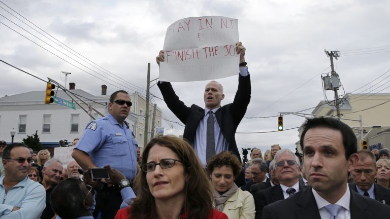 Jim Keady, the man was told to sit down and shut up by Gov. Chris Christie during an event in Belmar in 2014, is running as a Democrat in the 30th Assembly district. (AP Photo/Mel Evans)