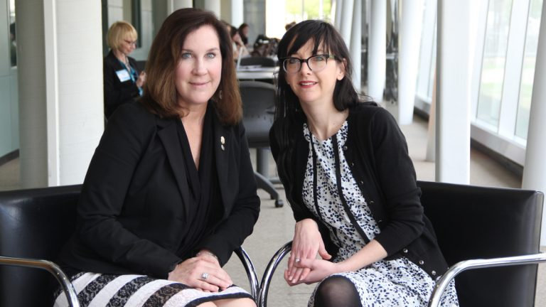 Karyn Campbell (left)