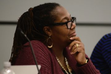SRC member Sylvia Simms is shown at a February meeting. (Bastiaan Slabbers for NewsWorks