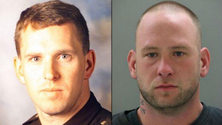 NCCo Police Lt. Joseph Sczerba (left) was killed by David Salasky in 2011. Salasky