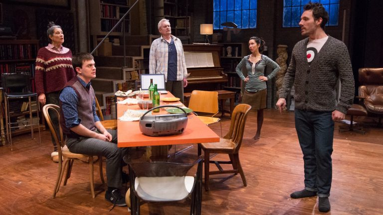 Laurie Klatscher, Tad Cooley, John Judd, Robin Abramson, and Alex Hoeffler in Philadelphia Theatre Company's production of
